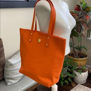 Joy Vegan Leather Orange Tote Bag NWOT